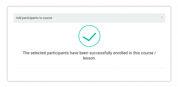 Successfully enrolled in a course message