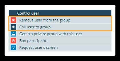 Control user individual menu