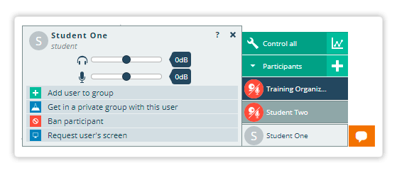 Personal Controls for each student