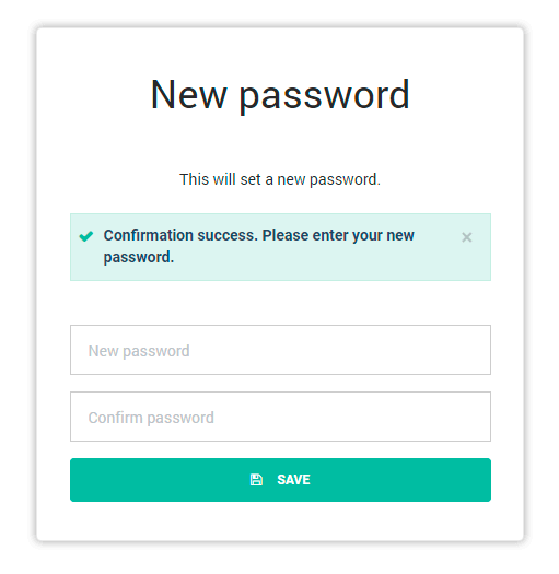 Fill in your username and new password to gain access to your account.