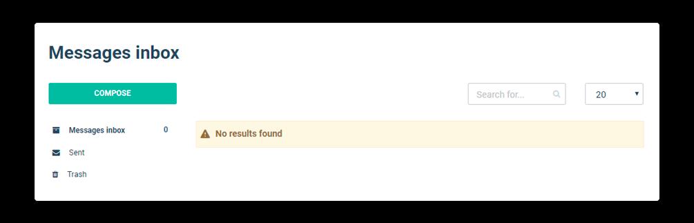Messages inbox empty