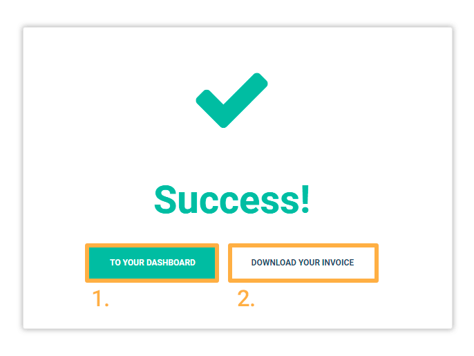 virtual classroom subscription: success message