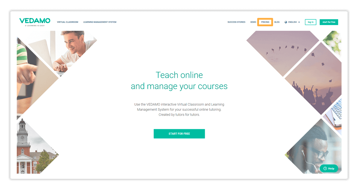 Click Pricing to proceed with your Premium Virtual Classroom Subscription