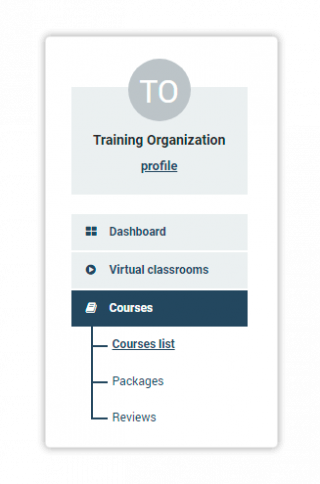 Navigate to Courses list to see and edit all courses