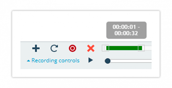The recording controls will aid you in editing the recording accordingly