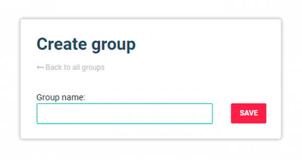 Choose a name and create the group