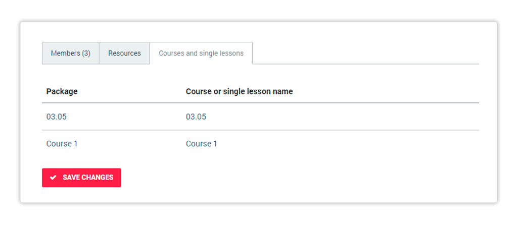 Check which courses and lessons the whole group is enrolled for