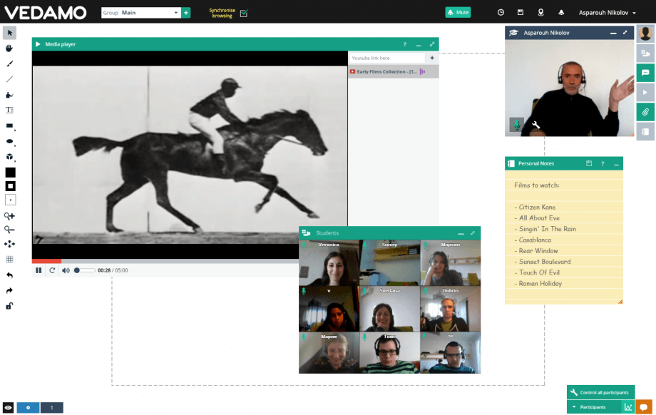 Virtual session with students