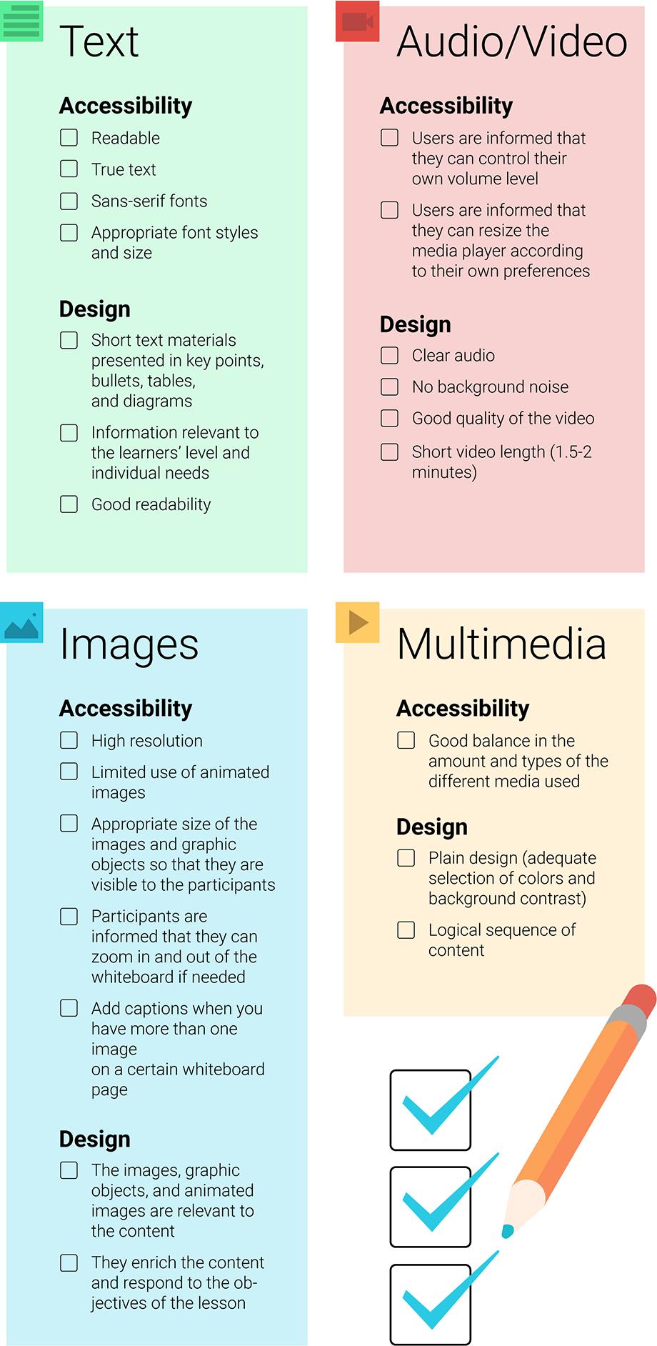 VEDAMO checklist for web-content accessibility