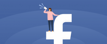 facebook marketing for teachers - the facebook logo stylized