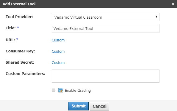 Virtual classroom Schoology integration