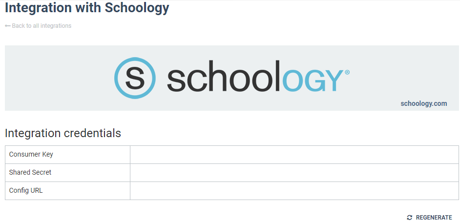schoology virtual classroom plugin: Integration