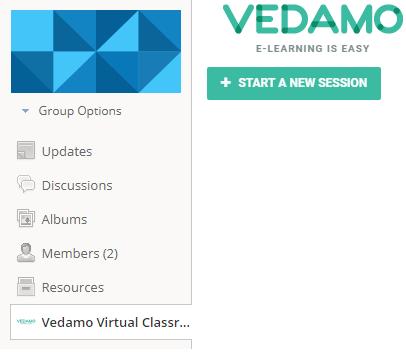 Schoology virtual classroom plugin for teacher: Group options