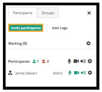How do I invite participants to the virtual classroom? Invite participants from inside the room