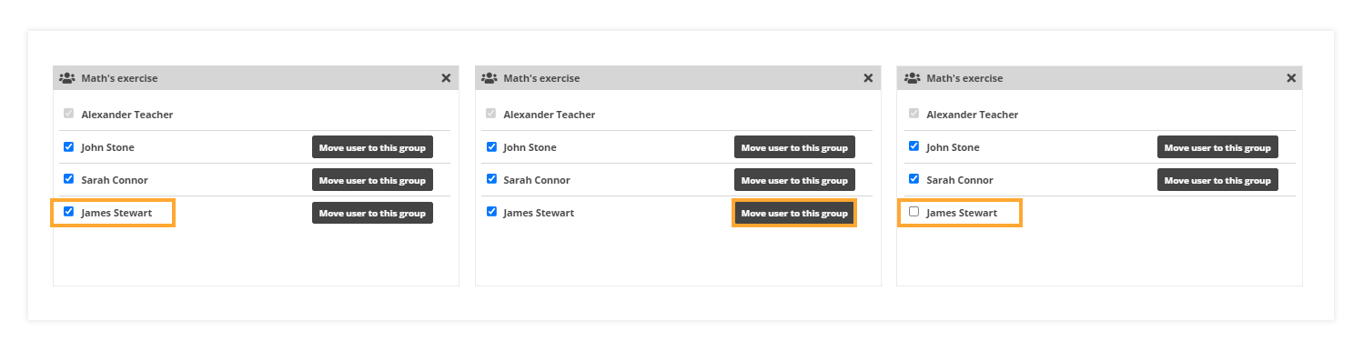 How to assign, add, and remove participants from the group