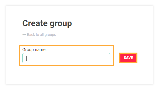 LMS User Groups: Choose a name and create the group