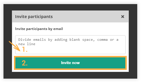 Participant Controls in the Virtual Classroom: Invite participants by email