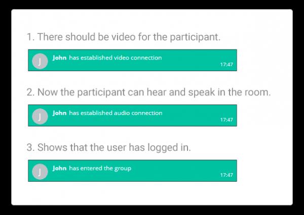 When a participants enters the Virtual Classroom