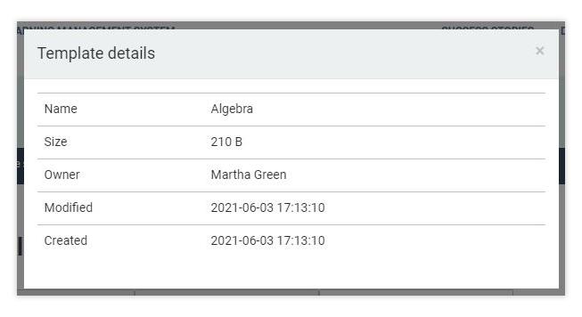 Virtual Classroom Templates: Template details