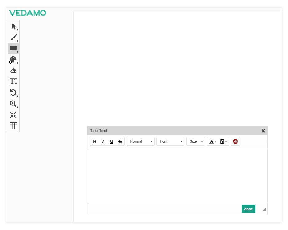 Virtual Classroom Online Whiteboard Tools: Use the Text tool to write on the board