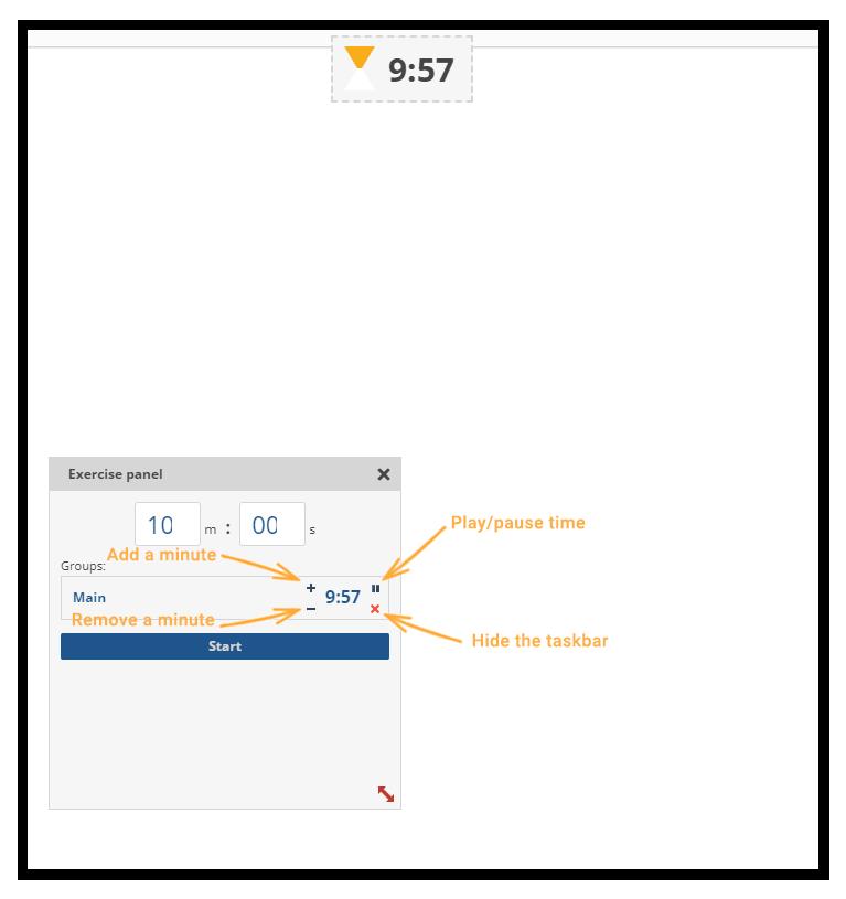 Virtual Classroom Timer: settings panel