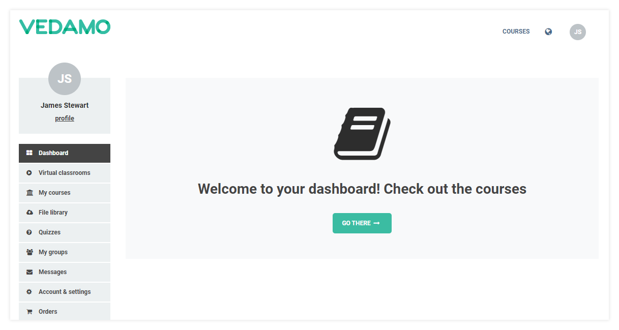 LMS Registration for users: Your Dashboard