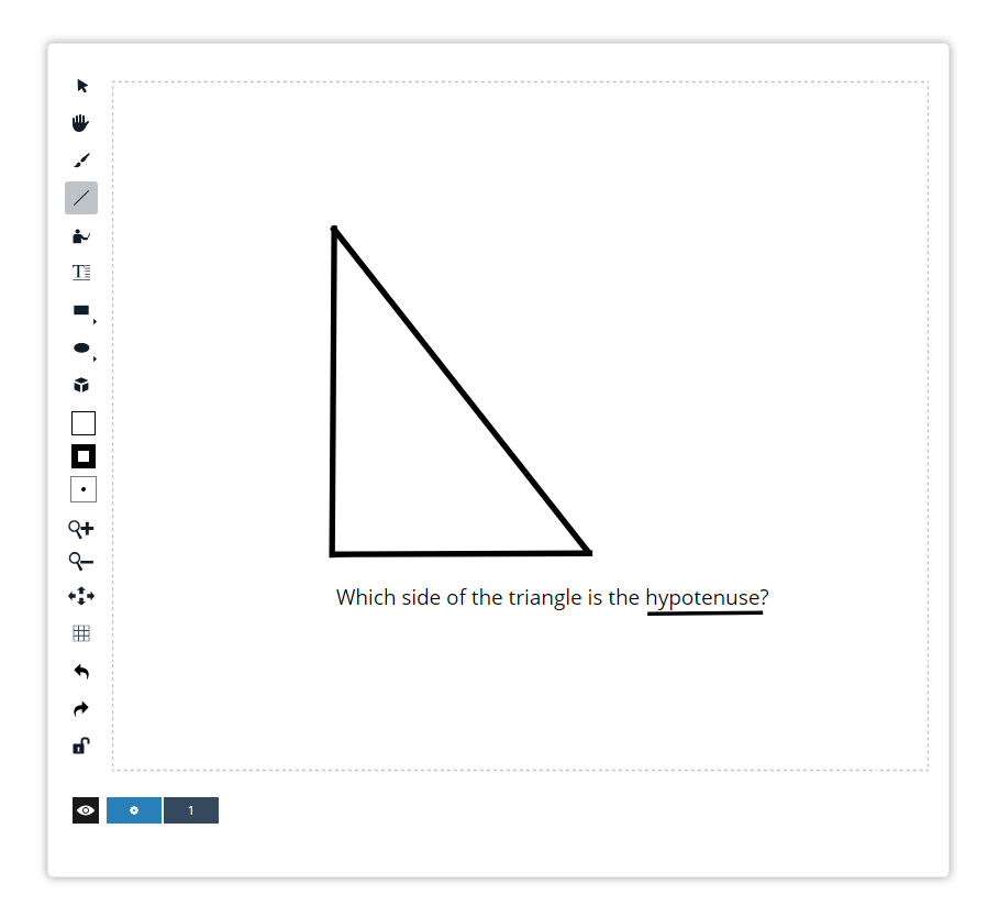 Draw lines and geometric figures with the Line tool