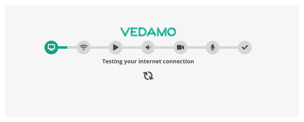 Virtual Classroom – System Check: Connectivity: Example of the connectivity check