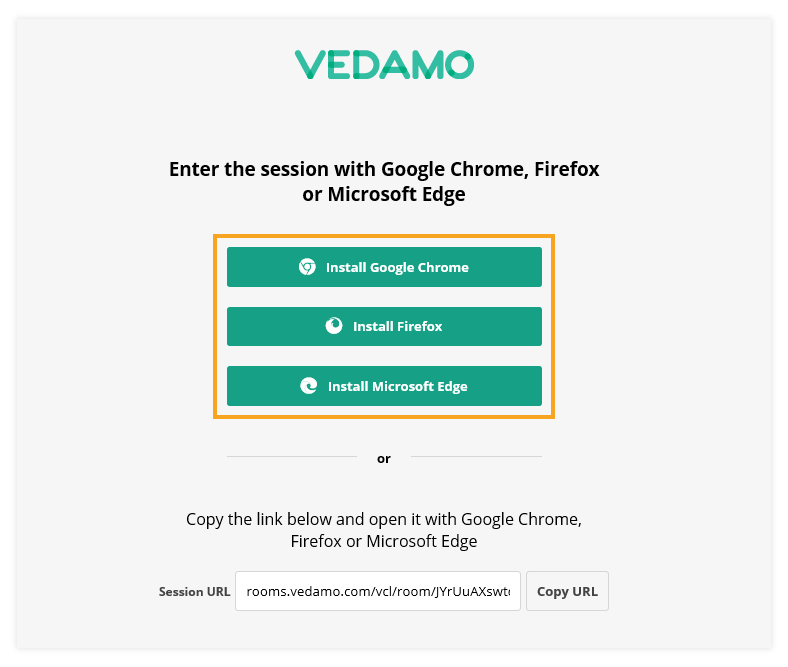 Virtual Classroom - System Check: Browser: Example when an unsupported browser is used