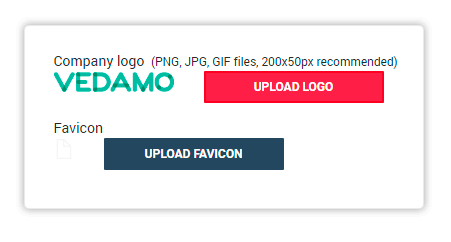 Your company's logo will replace Vedamo's default logo