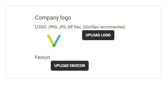 Custom Branding: To upload your own personal favicon use the Upload Favicon functionality