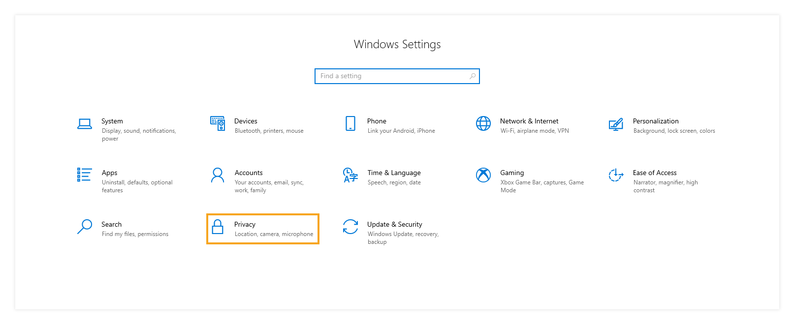 Allowing which apps to use your camera and microphone / Windows Apps Permissions: Windows Settings
