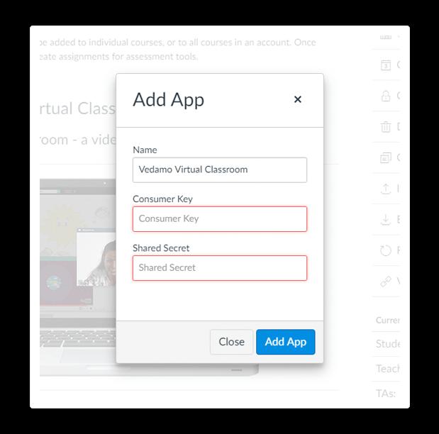 Add app canvas integration