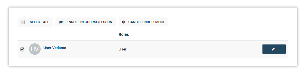 The option to cancel enrollment will become active