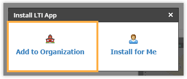 Add to Organization option