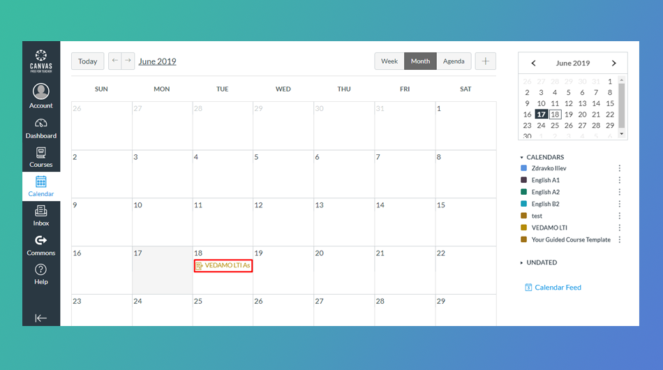 Join Virtual classroom as student from Canvas calendar