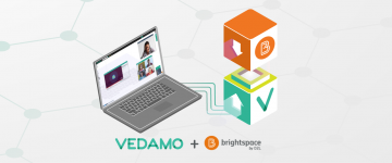 VEDAMO Virtual Classroom integrated with Brightspace D2L