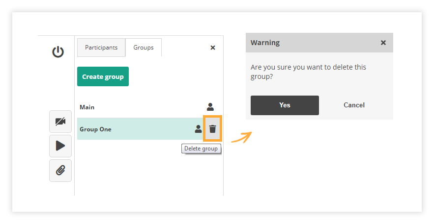 Delete a Group in the Virtual Classroom