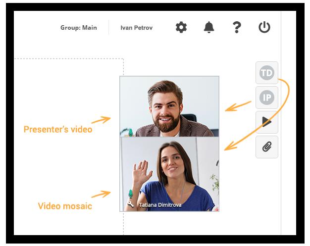Virtual Classroom Presenter and Mosaic video