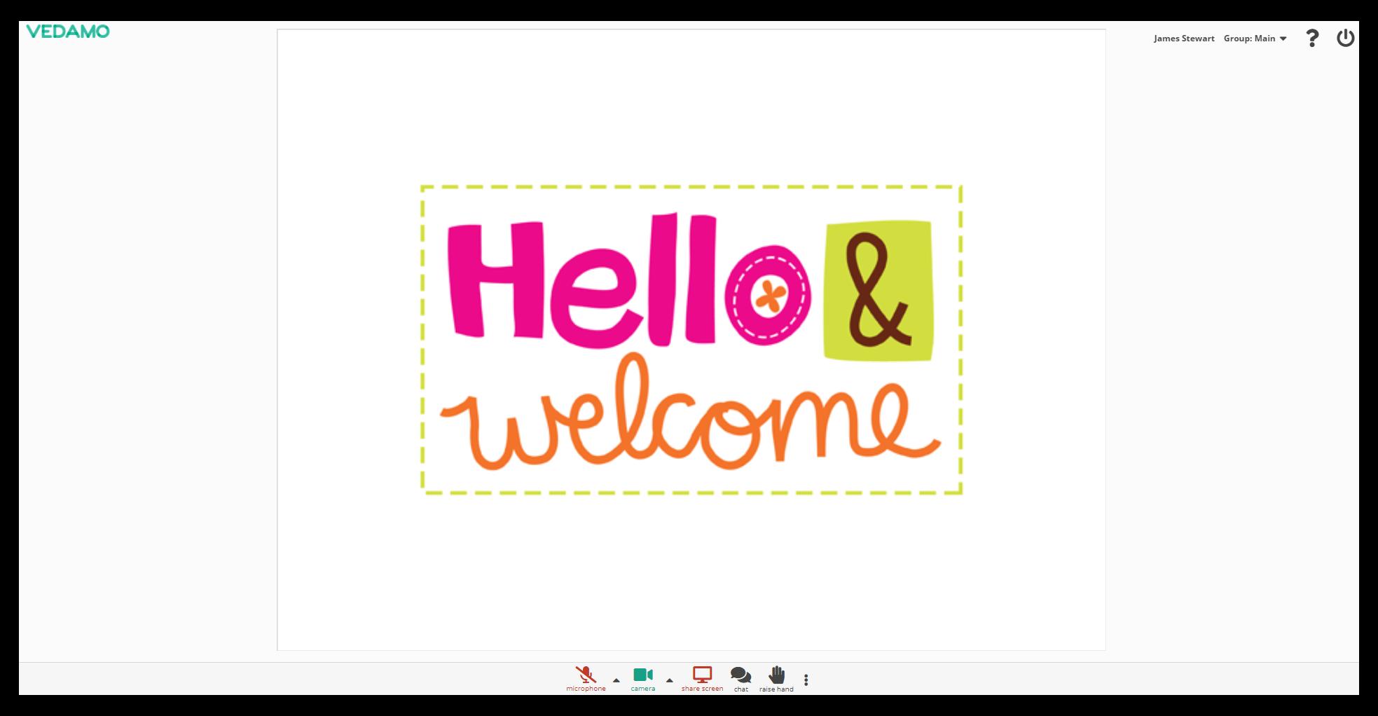 Online Whiteboard Settings: Online Whiteboard Settings: Simple mode example