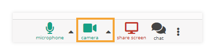 Camera Controls in the virtual classroom: Enabled Camera