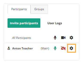 Sound Controls in the virtual classroom: Participants Settings