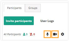 Participant Controls in the Virtual Classroom: Control All Participants Menu