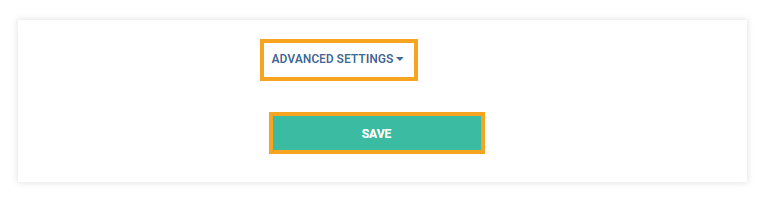 Permanent Links in the VEDAMO platform: Advanced settings option and Save button