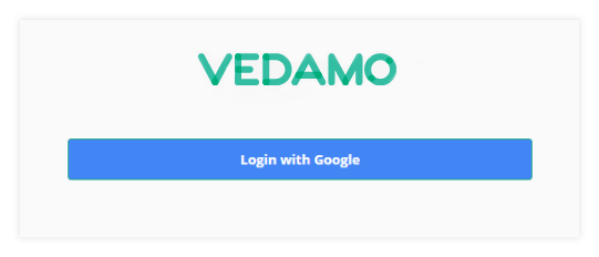 Permanent Links in the VEDAMO platform: users will this login screen if they follow the link for the session