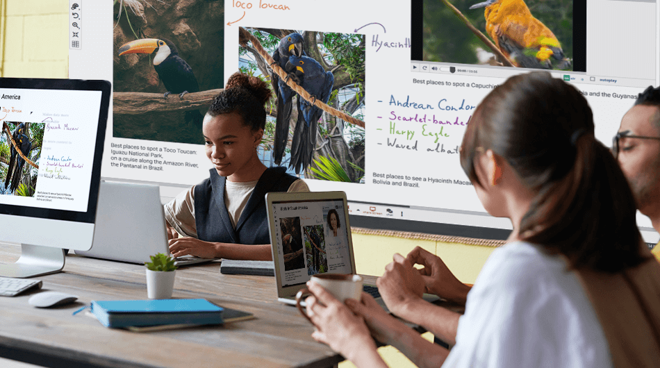 Combine different educational resources in hybrid learning